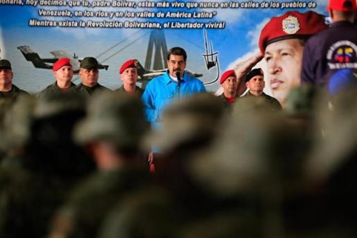 """Maduro avisa a EEUU de que si lanza una intervención militar Venezuela será """"un nuevo Vietnam""""."""