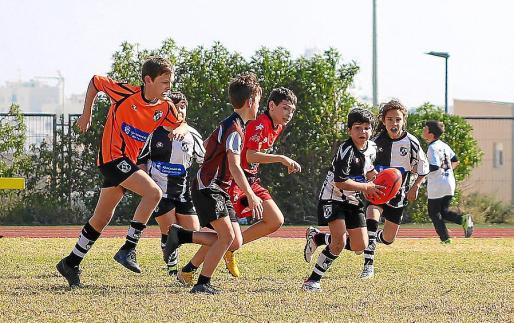 Imagen de la Jornada Rugby Days celebrada ayer en Can Misses.