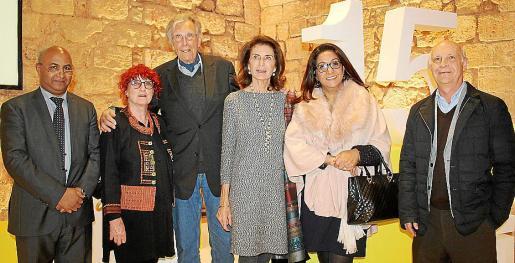 Driss Soussi, Christina y Erwin Bechtold, Carmen Planas, Nezha Attahar y José Ferrer.