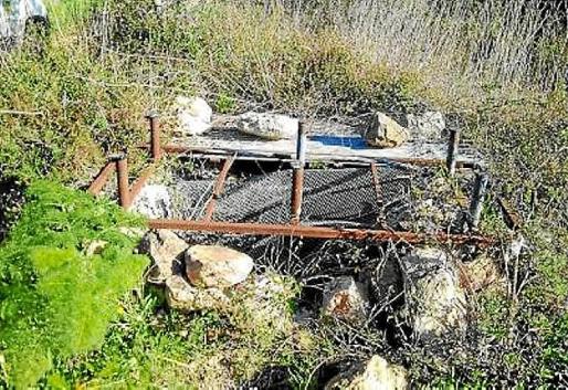 magen del pozo que el Ayuntamiento de Santa Eulària selló.