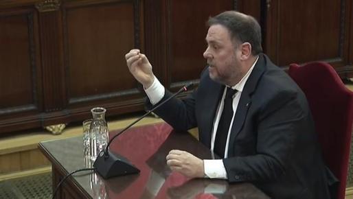 Junqueras se presenta como un preso político, niega delitos y hace un alegato a favor de la autodeterminación.