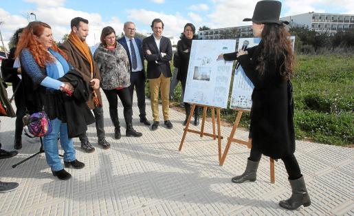 Viviana de Sans, Rafa Ruiz, Francina Armengol, Vicent Torres, Marc Pons y Elena López durante la presentación.