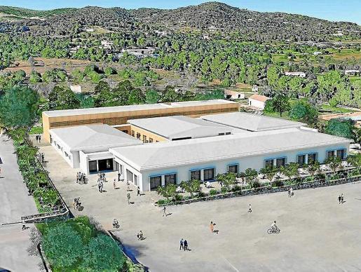 Recreación sobre cómo quedará la futura Escuela de Hostelería de Ibiza.
