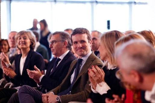 Casado durante la presentación de los 42 candidatos del PP de la Sierra Norte de Madrid.