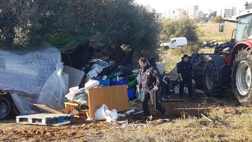 Asentamiento ilegal en el barrio de Cas Serres.