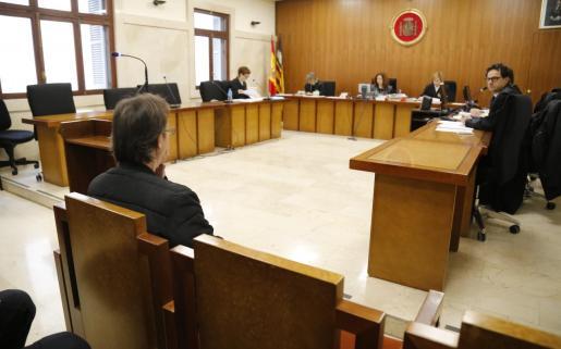 El acusado, durante su declaración ante el juez.