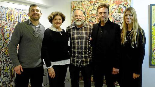Paul Parker, Francisca Llabrés, Carlos Suñer, Toni Coll y Antonia Rotger.