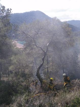 Imagen de la zona afectada por el fuego en Benirrás