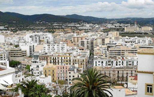 Una parte de la ciudad de Ibiza vista desde Dalt Vila.