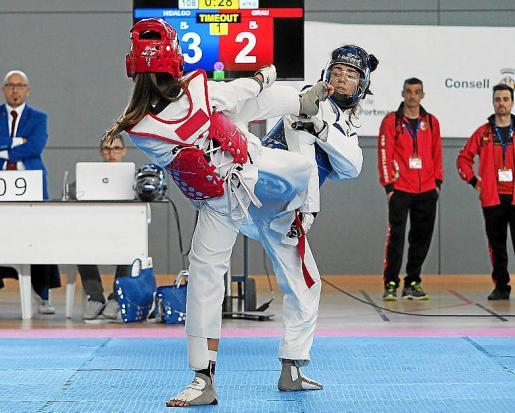 Una imagen del Open de Ibiza de Taekwondo, celebrado ayer en Can Coix.