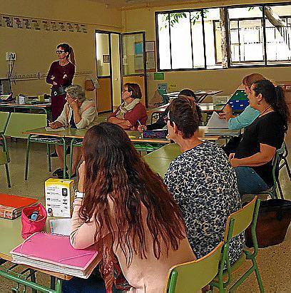 Imagen de archivo de una reunión formativa de profesores.