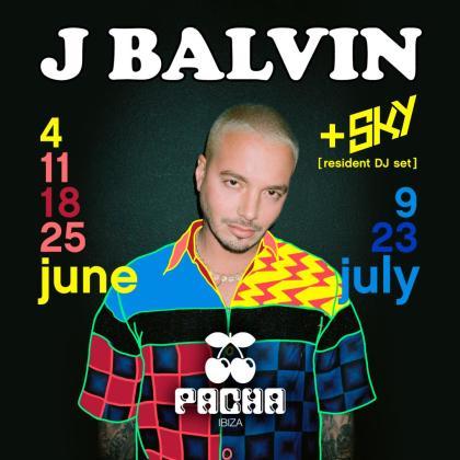 La súper estrella internacional J Balvin actuará este verano en Pacha Ibiza.