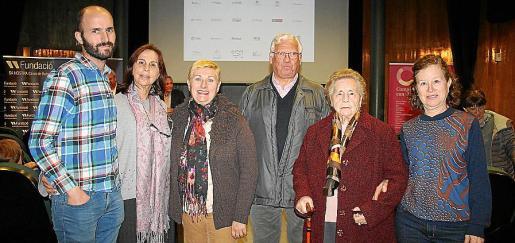 Miguel Macarro, Mercedes Martín, Margarita Planas, Miguel Toledo, Antolina González y Concepción Ajell.