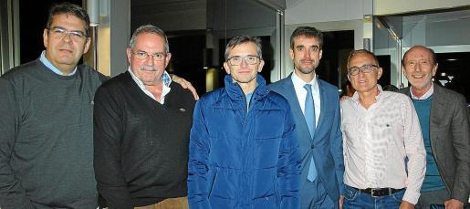 Pedro Sarrià, Diego Cánovas, Guillermo Til, Rubén Cabanillas, Manuel Tomás y Luis Conill.