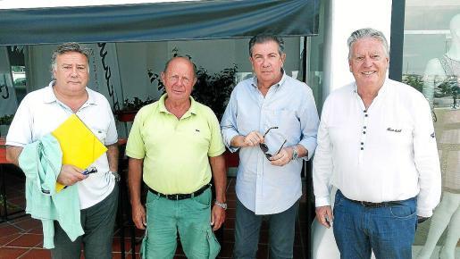 Comunidad de Amarres y Locales del Puerto Deportivo Marina Botafoch. Héctor Díaz, Guy Bosmans, Sergio Sanjuan y José Ferrer.