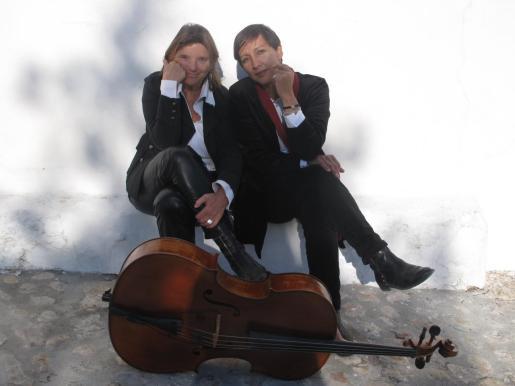 Nora Albert y Marcela Frederichs en una imagen promocional del recital de esta noche.