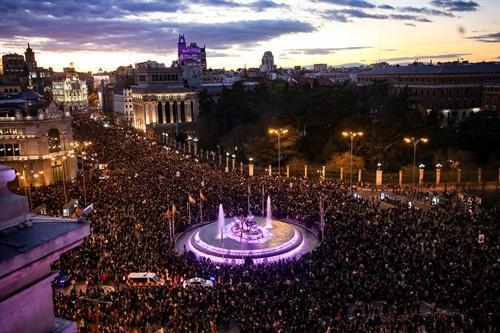 Marcha feminista en Madrid.