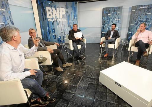 Los representantes de PSOE, Podem, Ciudadanos y PP hablaron ayer del agua, Formentera y del Consell.