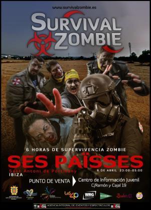 Cartel del Survival Zombie.