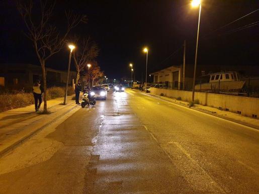 El control se instaló en la avenida de Sant Agustí