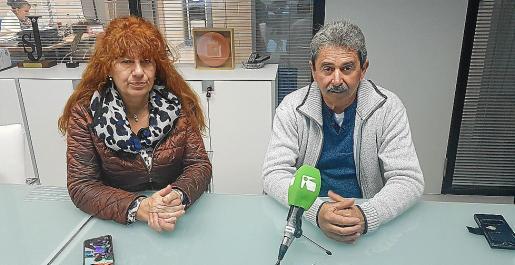 Cati Escandell y Ramón Viñals explicaron ayer la iniciativa en el Grupo Prensa Pitiusa.