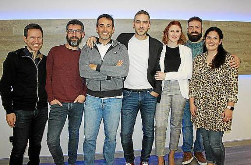 Daniel Sastre, David Cladera, Toni Fernández, David Navarro, Cristina Caldés, Martí Gulliver y Teresa Bauzá.