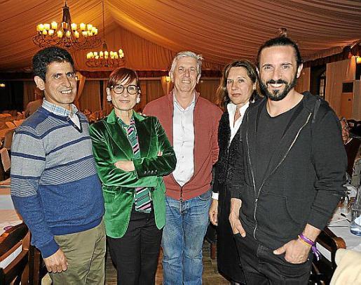 Mauloud Chej, Concha Obrador, Enric Casanova, Isabel Risco y Baltasar Picornell.