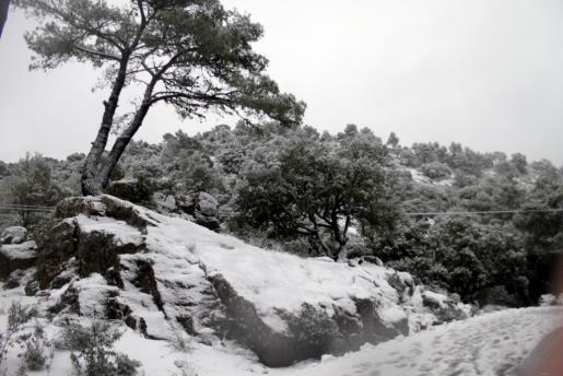 Nieve en la Serra de Tramuntana.