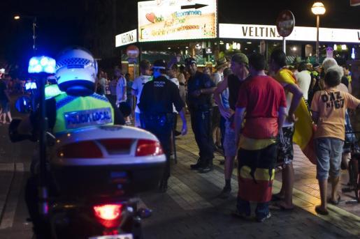 La Policía Local de Palma acudió al lugar de los hechos.