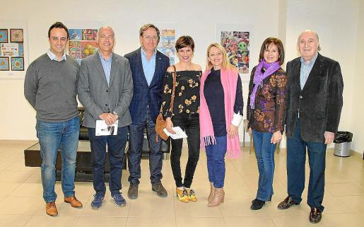 Ramón Arnau, Rafael Barea, Toni Planas, Polita Jiménez, Aina Delgado, Rosa Ruesga y Peter Newman.