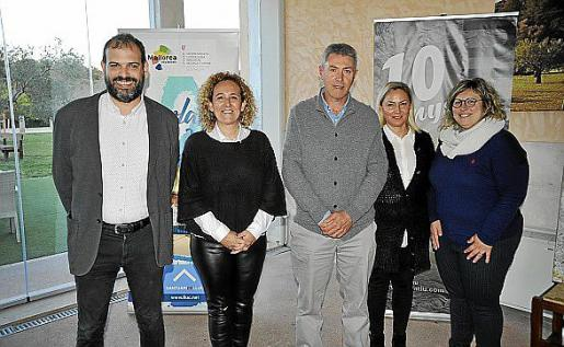 Rafel Riera, Kika Riera, Guillem Crespí Alemany, Margalida Villalonga y Maria Antònia Santandreu.