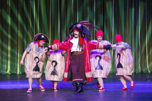 Un instante durante la función del musical 'Peter Pan'.