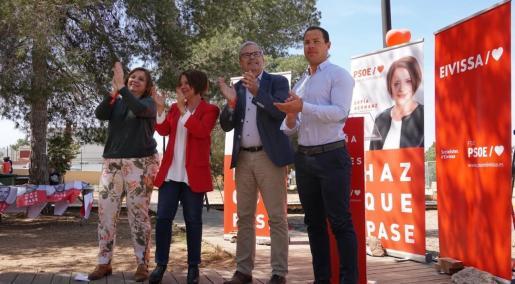 Imagen del acto socialista en Ses Païses