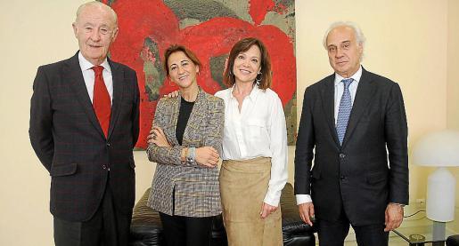 José Francisco Conrado, Margarita Pérez-Villegas, Elena Medina y Juan Antonio March.