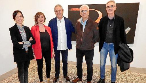 Antònia Maria Miró, Maria Àngels Castañer, Fernando Esteban 'Manotes', Basilio Baltasar y Jaume Reus.