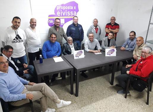 Candidatos de PxE al Ayuntamiento de Vila.