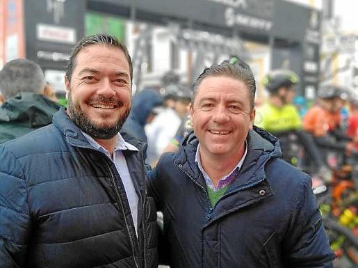 De izquierda a derecha, Santi Marí y Miguel Jerez.