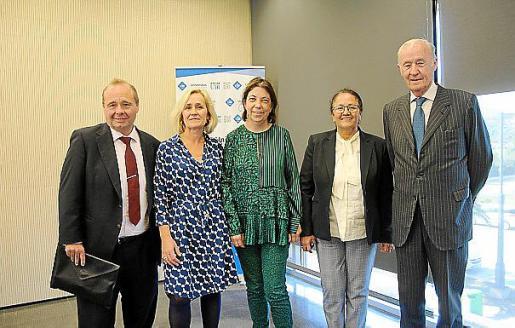 Onofre Martorell, Marta Jacob, Margalida Payeras, Grace García y José Francisco Conrado.