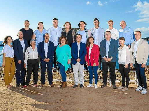 La candidatura del PSOE al municipio de Sant Josep de sa Talaia.