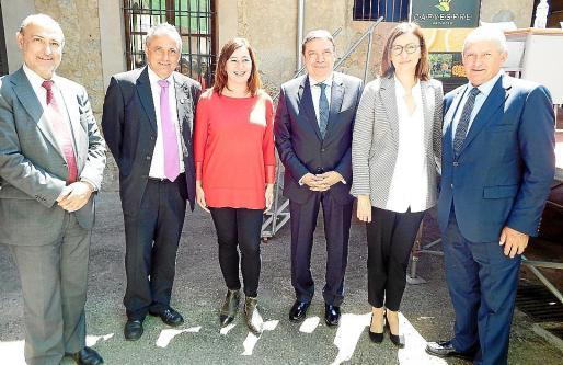 Agustín Herrero, Miquel Gual, Francina Armengol, Luis Planas, Jerònia Bonafè y Ángel Villafranca.