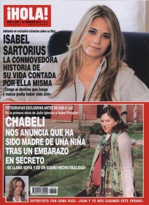 Chábeli, en la recta final de su embarazo, en la revista 'Hola'.