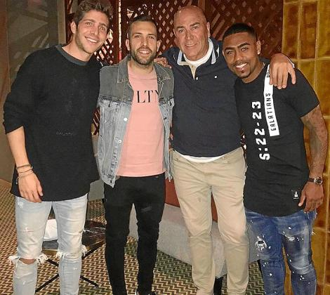 Futbolistas del Barça en Ibiza.