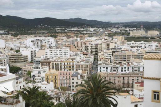 La ciudad de Ibiza.