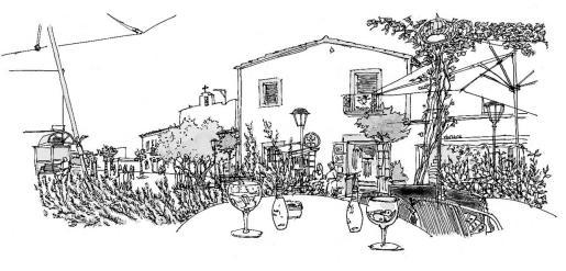 Uno de los dibujos de Feliu Renom.