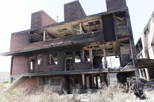 Imagen del edificio tras el incendio del pasado lunes.
