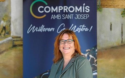 Paquita Ribas, candidata de Compromís amb Sant Josep a la alcaldía de Sant Josep.