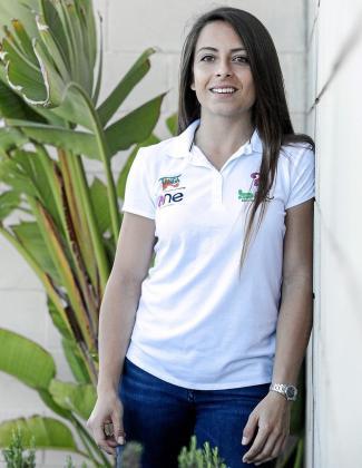 Mari Pau Huguet, ayer, en las instalaciones del Grupo Prensa Pitiusa.