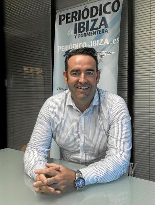 Sergio Tortosa, ayer en las oficinas de Grupo Prensa Pitiusa.