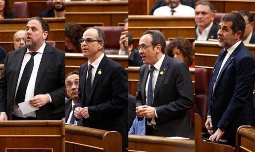 El informe de los letrados del Congreso avala la suspensión de los cuatro diputados presos.