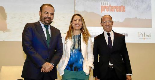 Gabriel Escarrer, Encarna Piñero y Luis Buzzi analizaron ayer en el Foro Preferente los desafíos de la industria turística.
